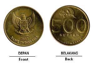 Uang Koin Rp 500 Tahun 1991 1992 uang koin