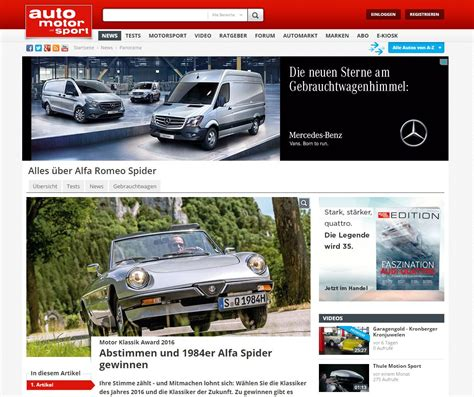 Auto Motor Sport Adventskalender by Auto Motor Und Sport Alfa Romeo Gewinnspiel Ichwilltesten De