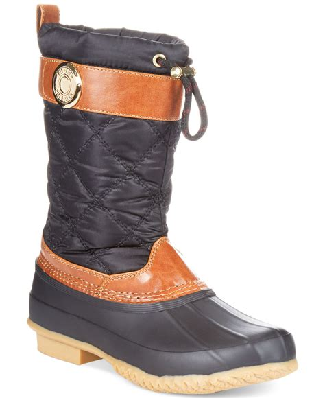 hilfiger s boots lyst hilfiger s arcadia duck boots in black