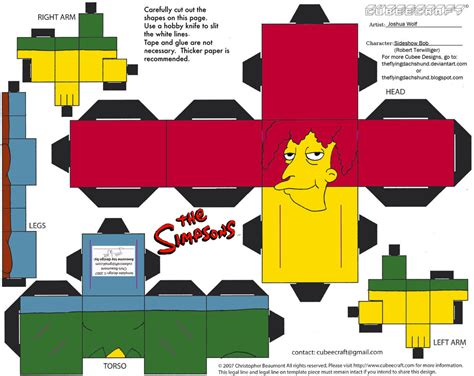 Simpsons Papercraft - simpsons3 sideshow bob cubee by theflyingdachshund on