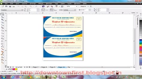 design certificate using corel draw how to print certificate with different field records