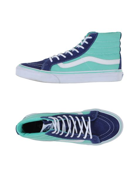 Lyst Vans High Tops Trainers In Blue