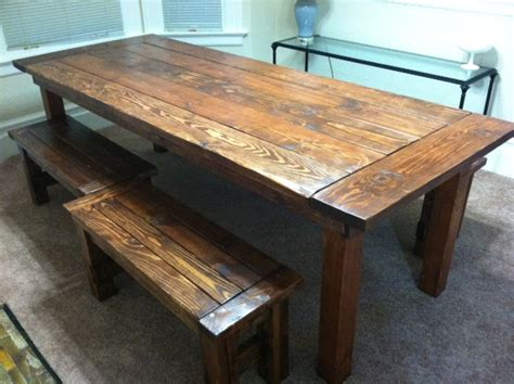 white farm house table and benches diy projects