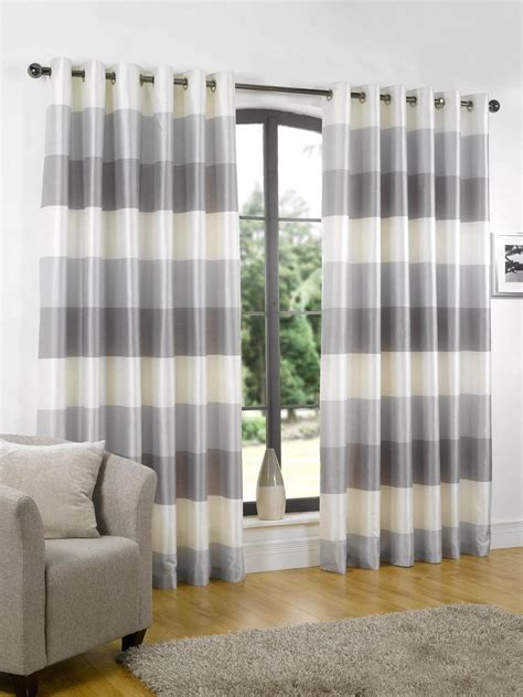 grey and white horizontal striped curtains horizontal striped curtain home design