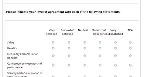 template sample employee satisfaction survey template