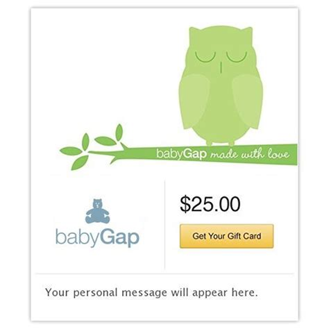 Baby Gap Gift Card - baby gap gift cards e mail delivery gift card wall online store