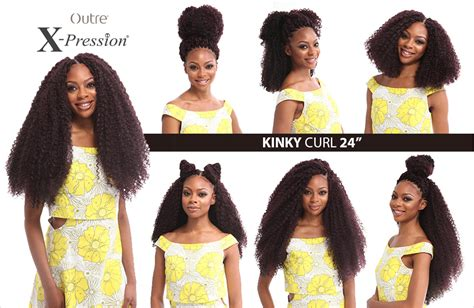 expression curl multi pack kinky curl 24 quot braid outre x pression