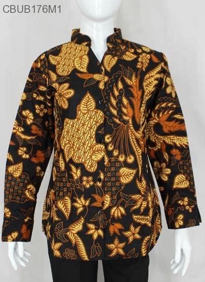 Atasan Katun Motif Batik by Atasan Katun Motif Bunga Coklat Blus Lengan Panjang