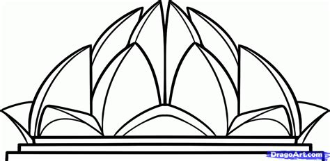lines on lotus temple how to draw the lotus temple lotus temple step by step