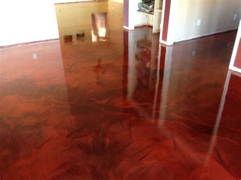 reflective flooring metallic epoxy interior installation in tucson az by arizona concrete