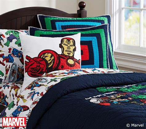 avengers full comforter marvel quilted bedding pottery barn kids