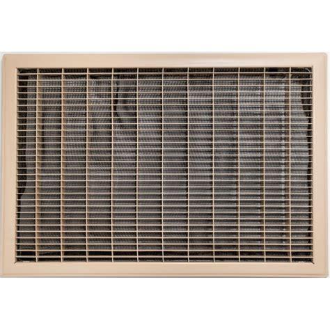 beige floor return air grille with filter 400x600mm