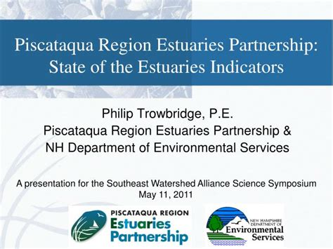 Ppt Piscataqua Region Estuaries Partnership State Of State Of The Presentations