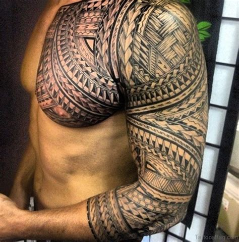 arm to chest tribal tattoo 61 stylish tribal tattoos on chest