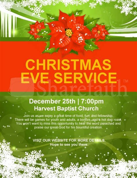 holiday christmas flyer template flyer templates