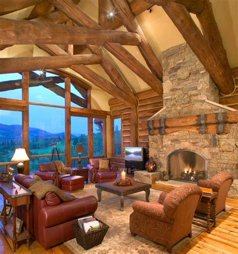 hybrid log house  golf  traditional living