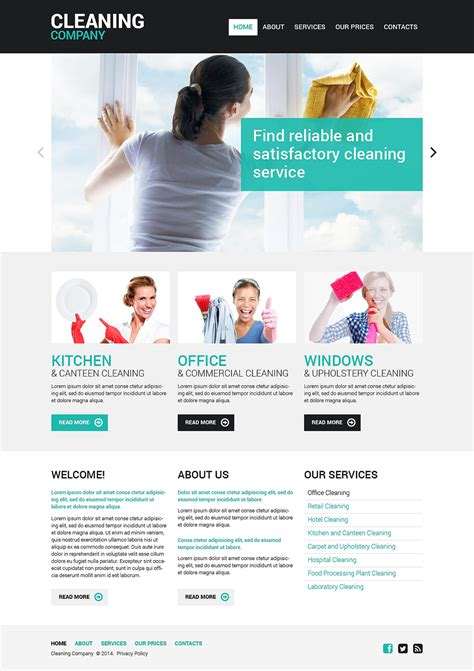 Cleaning Responsive Website Template 48107 Housekeeping Website Templates Free