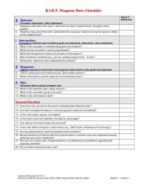 Birp For Progress Notes Mh Resources Pinterest Note And Products Birp Note Template