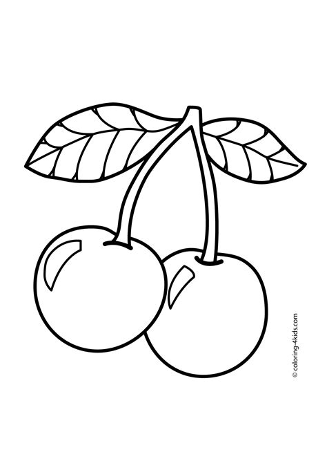 coloring pages pac man cherry сoloring pages for all
