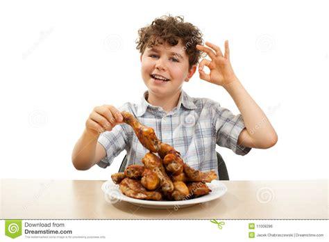 ate chicken kid chicken drumsticks stock photo image 11008286