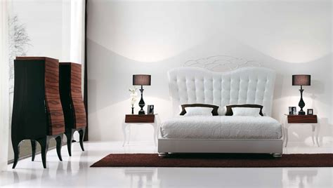 Bed And Bedroom Furniture | luxury bedroom with beautiful white bed by mobilfresno