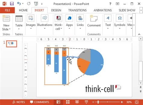 graph creation tool create better powerpoint charts with think cell chart add in