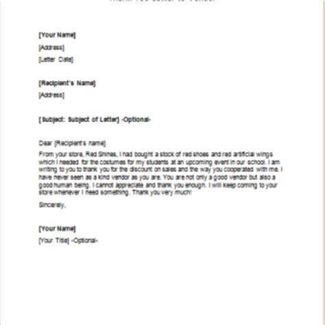 Acceptance Letter For Vendor Formal Official And Professional Letter Templates Part 7