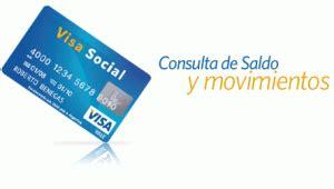 consulta de saldo visa vale social consultar el saldo de la tarjeta del plan mas vida visa