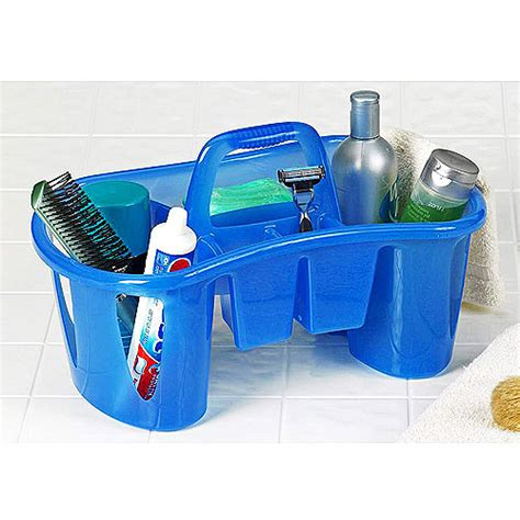 bathroom caddies unique compartmentalized bath caddy sapphire blue