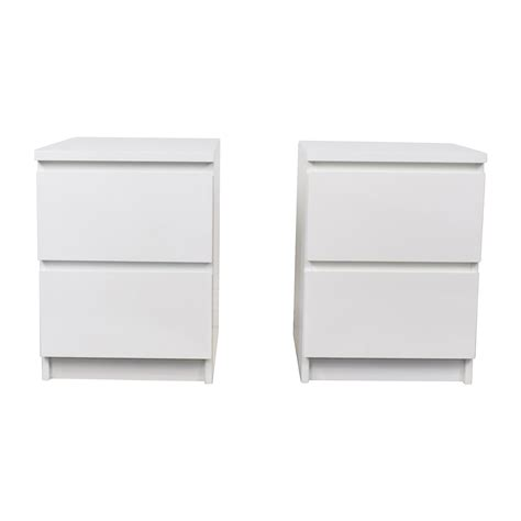 ikea white desk with drawers white end with drawers safavieh halle wicker