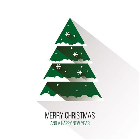 vector christmas tree tutorial flat green christmas tree vector material over millions