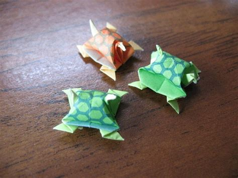 origami turtle miniature origami turtles 183 how to fold an origami animal