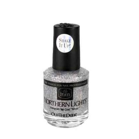 Northern Lights Hologram Top Coat by Inm Northern Lights Hologram Top Coat Silver 0 5oz