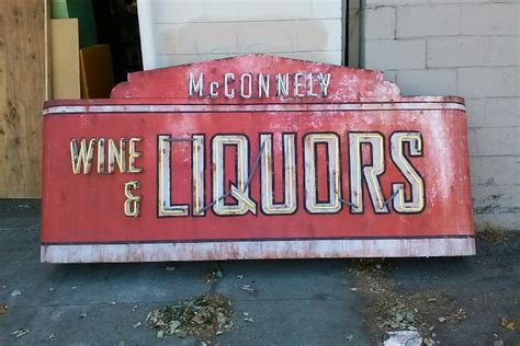 liquor signs faux retro neon wine liquor store sign event magic