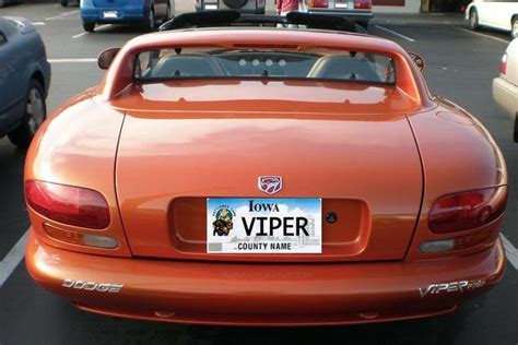 Fast Car Vanity Plates by Here Are All The Cars With The Vanity License Plate Viper Across The Country Autotrader