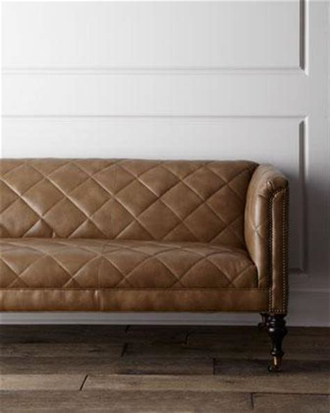 Quilted Leather Sofa Sofa Neiman