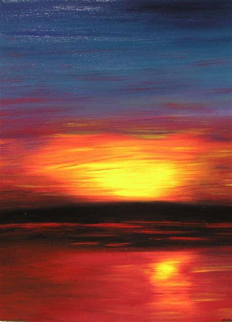 acrylic paint sunset sunset artwork by abstract artist glenn farquhar using