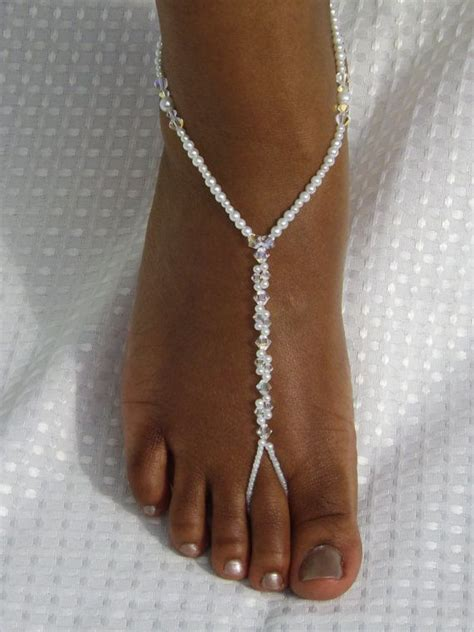 how to make foot jewelry with sandals wedding barefoot sandals foot jewelry