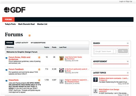 graphic design indonesia forum 20 popular forums web designers shouldn t miss nd8