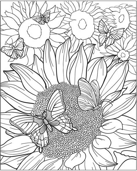 abstract sunflower coloring page 1996 best colour in pages images on pinterest coloring