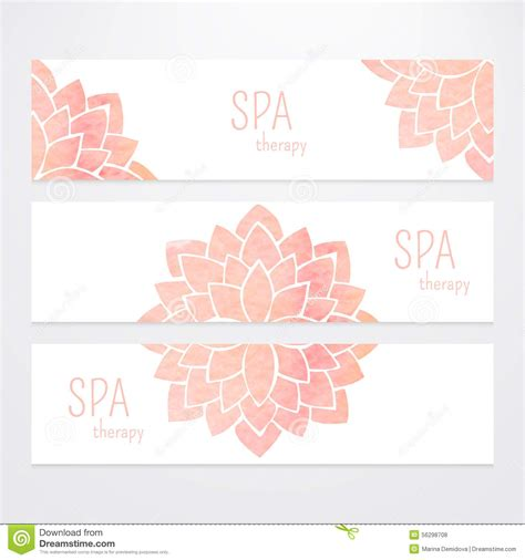 lotus flower profile business card templates vector templates of banners with watercolor pink lotus