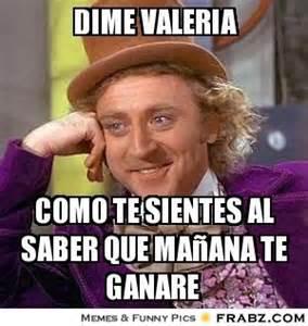 Valeria Meme - dime valeria wonka meme generator captionator