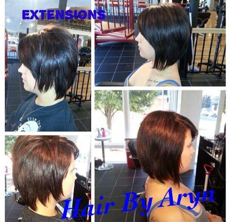 hair extensions for a bob dark brown hair extensions with swing bob haircut hair