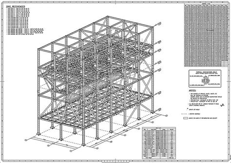 structure drawing cad structural steel shop drawings services