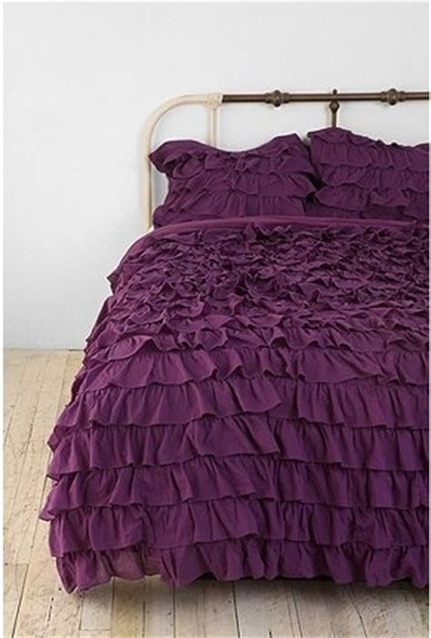 plum colored bedding plum bow waterfall ruffle sham set plum color ruffled