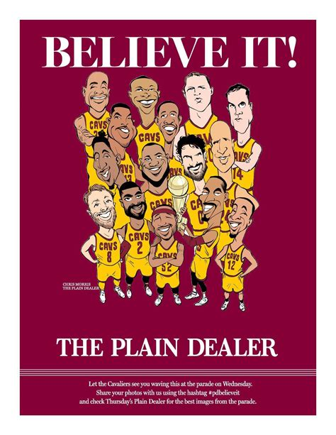 the cleveland plain dealer sports section show your cavs pride print and wave this quot believe it