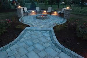 Patio Paver Lights Baron Landscaping 187 Outdoor Fireplace Contractor Cleveland Landscaping Landscape Contractors
