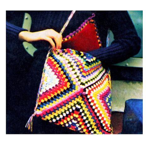 pattern image for sale 1970 s granny square chic messenger shoulder bag vintage
