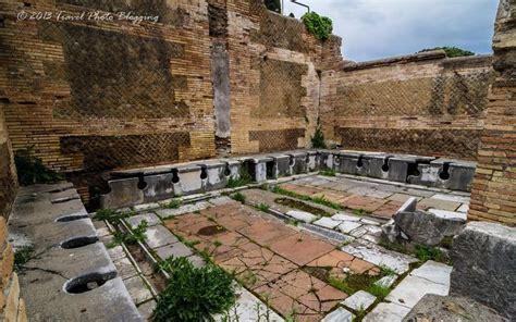 public bathrooms in italy ostia antica s roman forum had public restrooms google