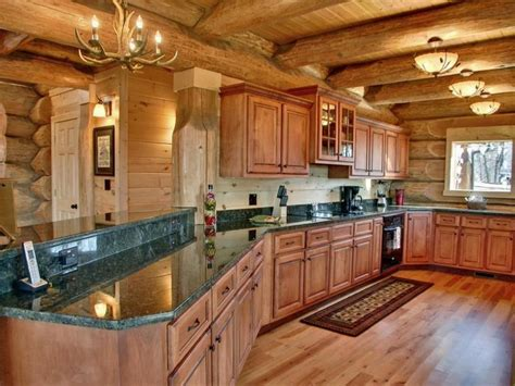 Cabin Kitchen Design 35 Best Images About Log Cabins Kitchens On Log Cabin Homes Stove And Kitchen
